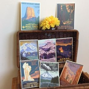 set of 8 NPS postcards